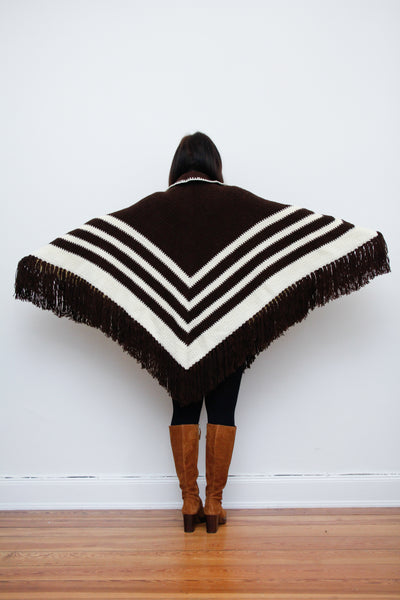 1970's Knitted Poncho Cape