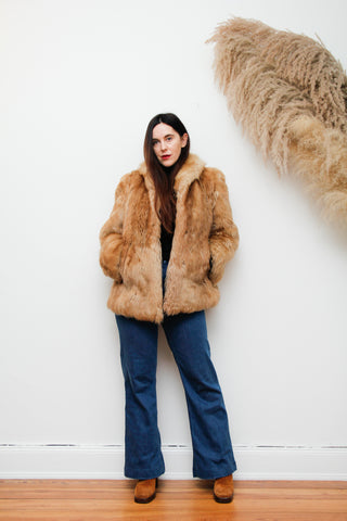70's Real Sheepskin Shearling Mongolian Coat