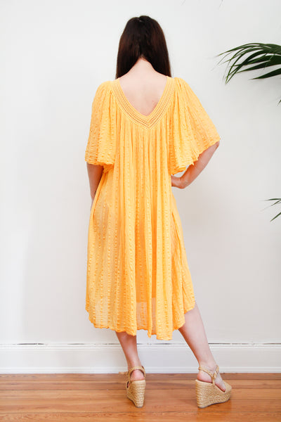 1970's Crinkle Cotton Dress
