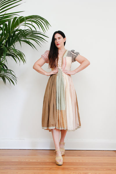 1970's Printed Prairie Cotton Skirt