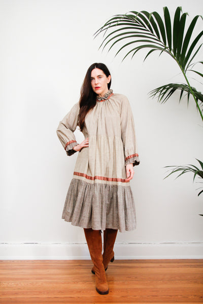 70'S Cotton Prairie Smock