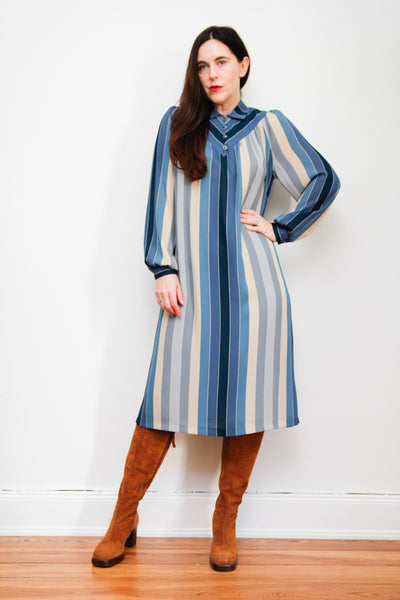 70's Stripe Smock Dress