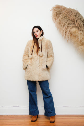 1960's Cream Lamb Shearling Sheepskin Coat