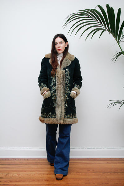 70's Embridered Afghan Sheepskin Coat