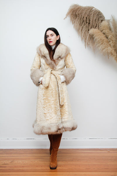 Real Fur Trench Belted Penny Lane Princess Folk Winter Coat