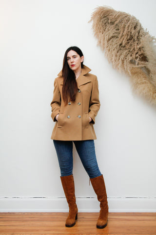 70's Double Breasted Wool Pea Coat