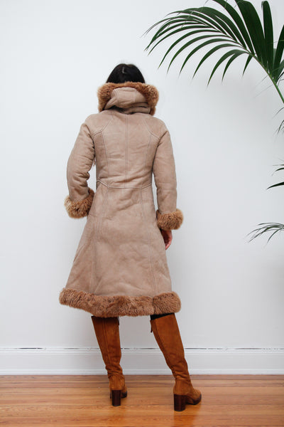 70's Afghan Sheepskin Maxi Coat