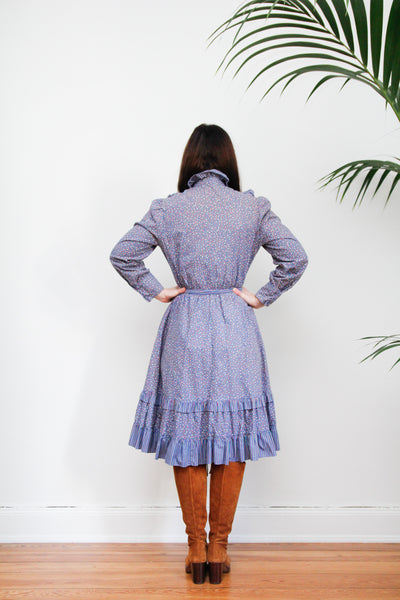 70's Cotton Prairie Dress