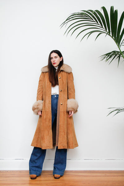 1970's Suede Fur coat