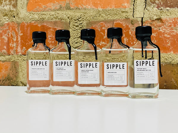 Sipple Gin Pack 5 x 50ml