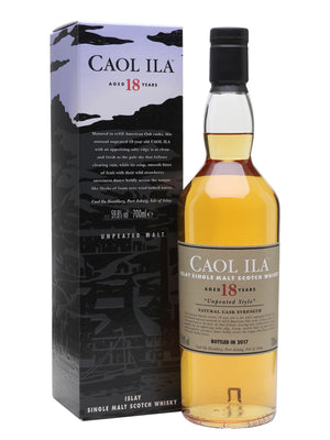 Caol Ila 18 Year Old Unpeated (Special Release 2017) Cask Strength Single Malt Scotch Whisky - Drop Club