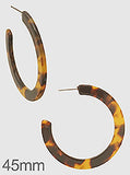 Medium Tortoise Hoops