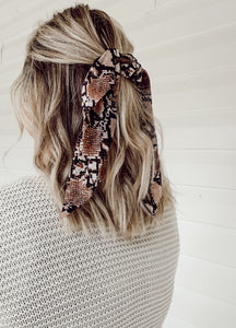 Animal Print Hair Scarf Scrunchies