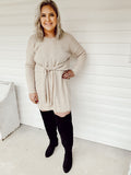Tie Front Sweater Dress