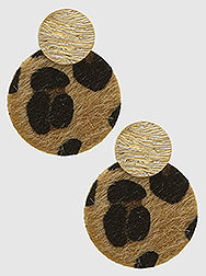 Textured Cheetah Print Statement Earrings
