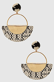 Snakeskin Statement Earrings