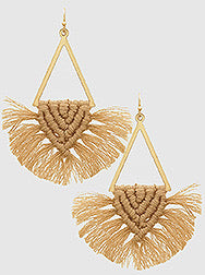 Mauve Fringe Earrings