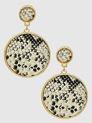 Round Snakeskin Earrings