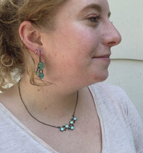 Load and play video in Gallery viewer, Triangle Maille Drop Earrings