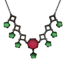 Load image into Gallery viewer, Deco Necklace with Tiny Squares