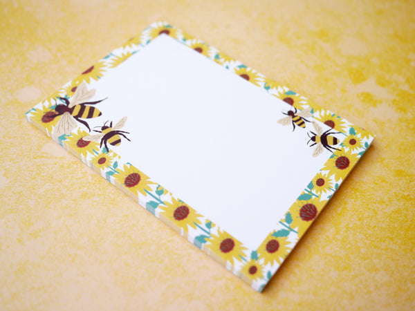 Bumble Bee A6 Blank Notepad