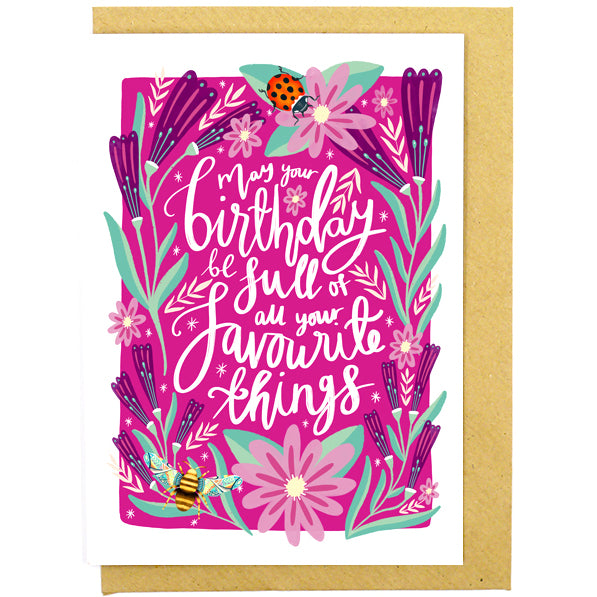 Birthday of Favourite Things Card