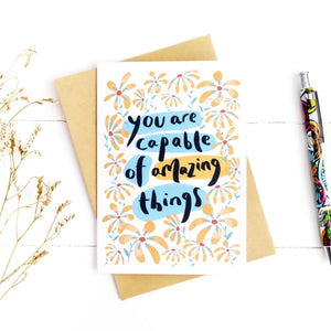 Capable of Amazing Things Card