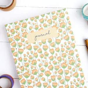 Spring Florals Blank Journal - A6, A5