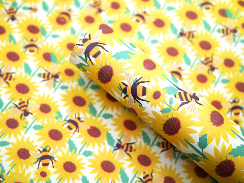 Sunflowers & Bees Gift Wrap