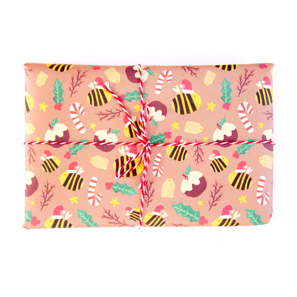 Festive Bumble Bee Gift Wrap