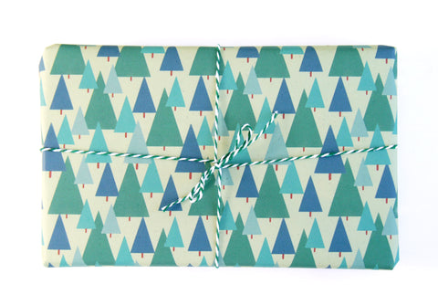 Scandi Christmas Tree Gift Wrap
