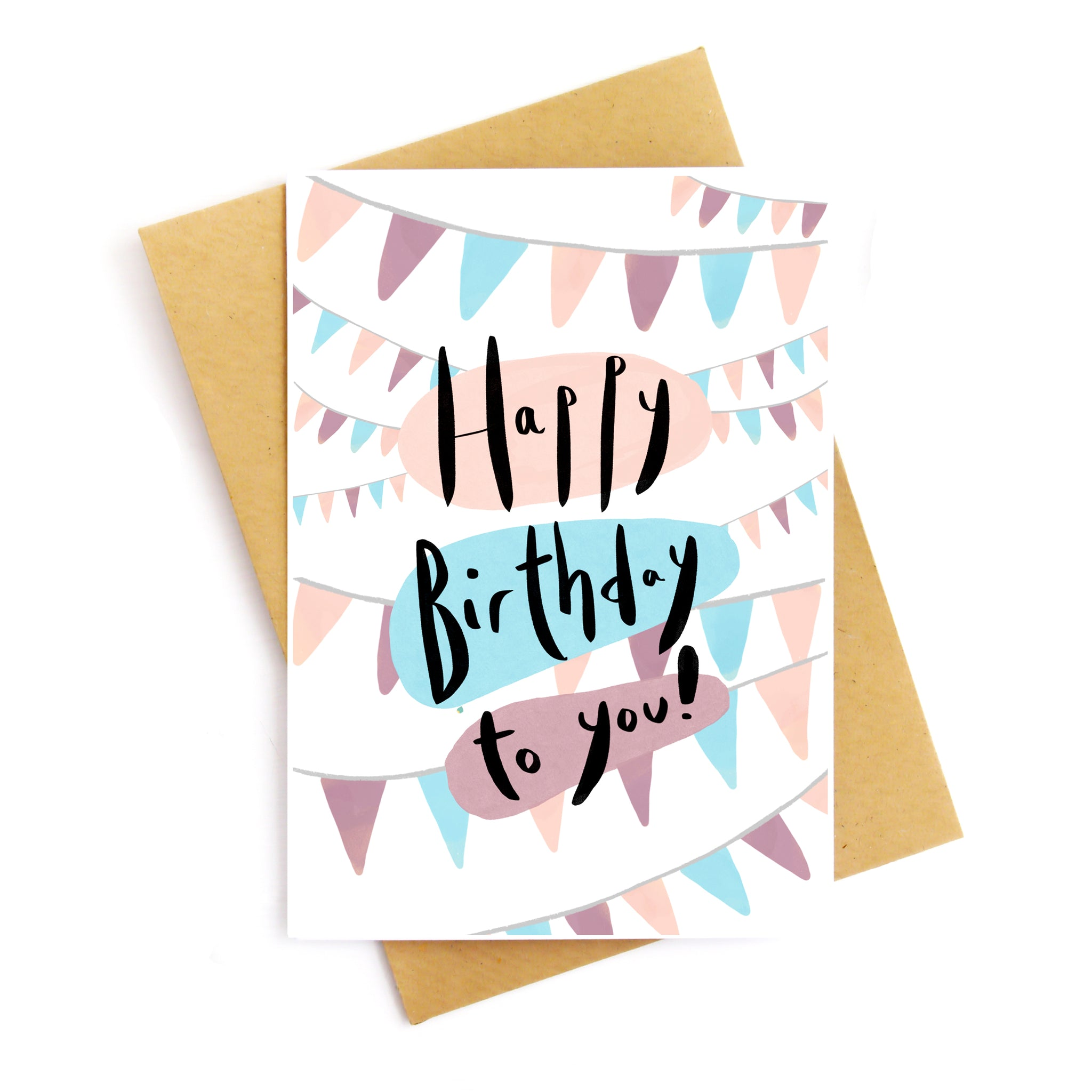 Happy Birthday Garlands Card