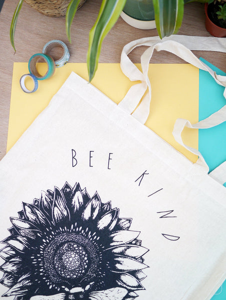 Bee Kind Cotton Tote Bag