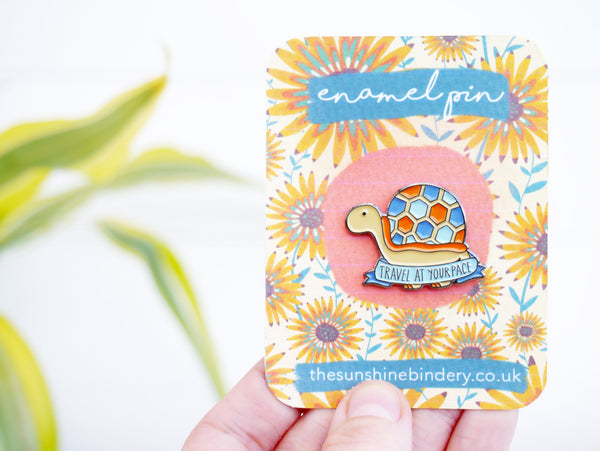 Travel At Your Pace Tortoise Pin