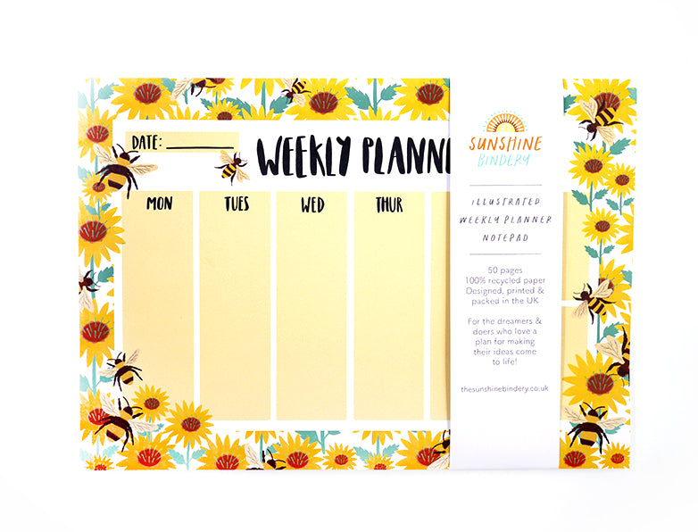 Bumble Bee A4 Weekly Planner Pad