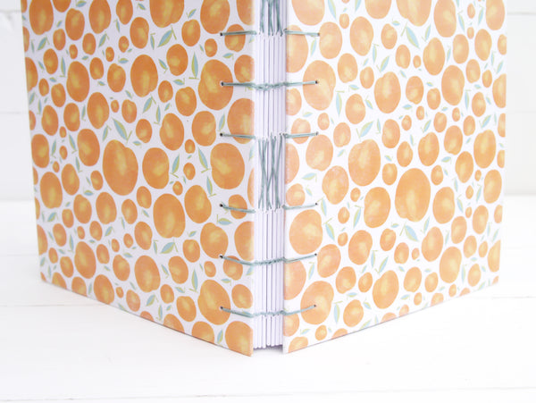 Personalised Peach Recipe Journal - A6, A5