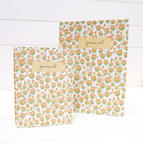 Personalised Spring Florals Journal - A6, A5
