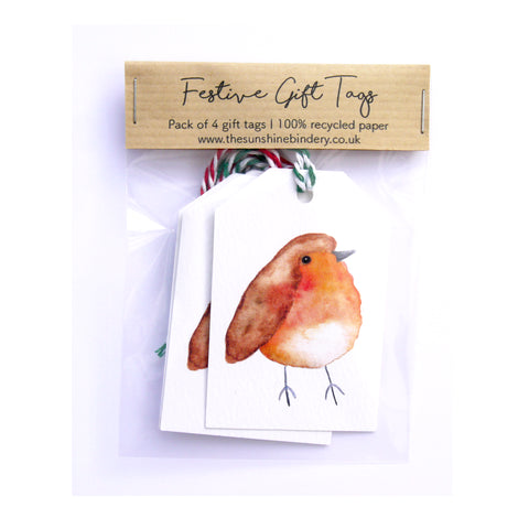 Festive Robin Gift Tags Pack