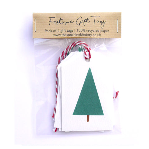 Festive Trees Gift Tags Pack