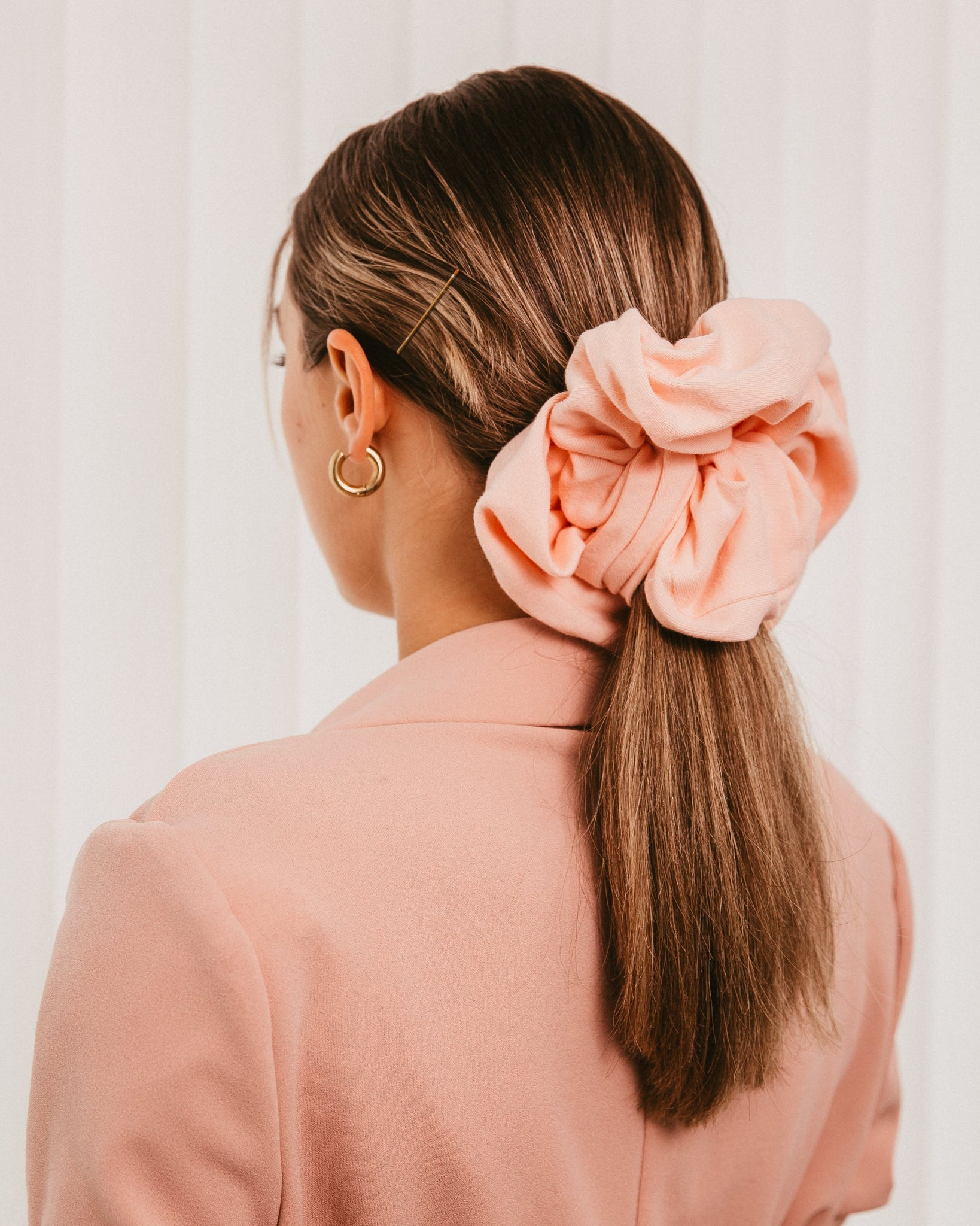 Soft Pink scrunchie