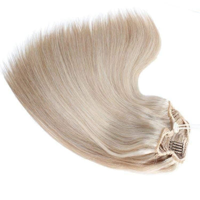 Cheveux Luxury Ash Blonde Drawstring Ponytail