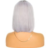 Cheveux Luxury Brazilian Straight Bob – Dark Roots, Grey