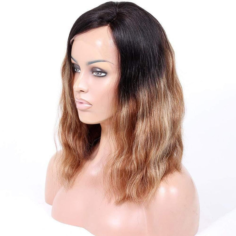 Cheveux Luxury Indian Wavy Full Lace Wig – Ombre Brown with Blonde Highlights