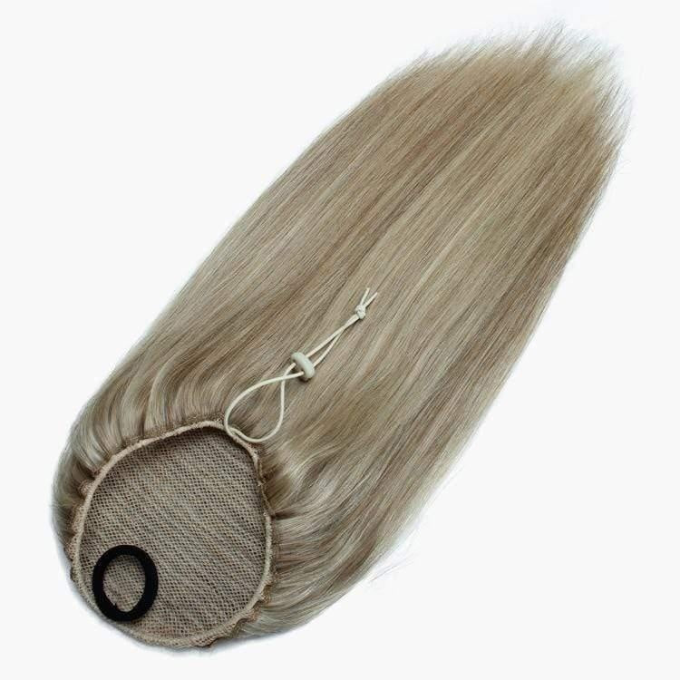 Light Blonde and Light Brown (Piano Color) Drawstring Ponytail