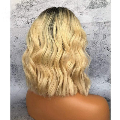 Cheveux Luxury Mongolian Wavy Blonde with Dark Roots Full Lace Wig