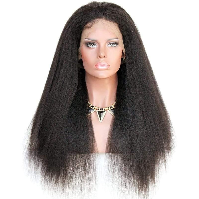 Cheveux Luxury Peruvian Kinky Straight Full Lace Wig