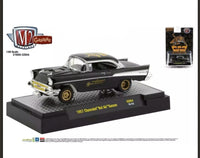 "M2 MACHINES 1957 Chevrolet Bel Air Gasser Black ""Weiand"" ""Hobby Exclusive"" Limited Edition"