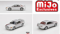 Mini GT 1:64 MiJo Exclusives - Nissan GT-R R32 Nismo S Tune (Silver) Limited Edition 1 of 1,200