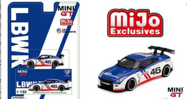 Mini GT 1:64 Mijo Exclusives - LB Works Nissan Skyline GT-R R35 #46 Infinity Motorsport