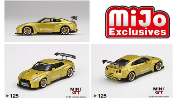 Mini GT 1:64 MiJo Exclusives - Nissan GT-R R35 GT Wing (Cosmopolitan Yellow) - Limited to 1,800 pieces (USA Exclusive)